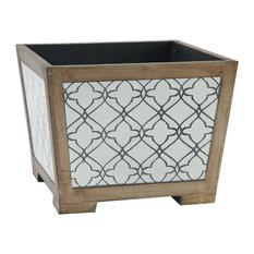 Glass-Mirrored Desktop Organizer Storage Box