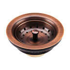 "3.5"" Kitchen Sink Strainer Drain, Solid Brass"