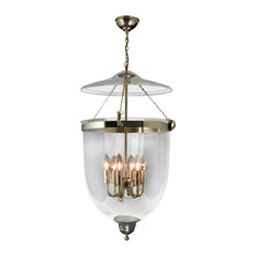 traditional pendant lighting. Kansa Lighting - Georgian Glass Lantern Pendant Light, Brass Traditional I