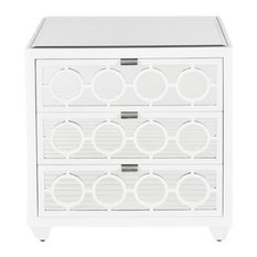 Worlds Away   Worlds Away Ava Nightstand In Marshmallow Lacquer    Nightstands And Bedside Tables