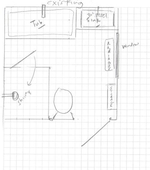 Master Bathroom Layout Feedback 9 X 9
