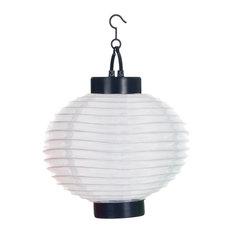 Outdoor Solar LED Chinese Lanterns, Set of 4, White