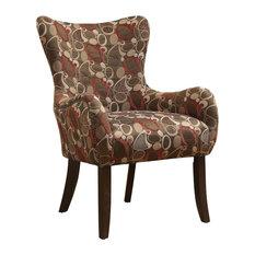 Acme Gabir Accent Chair, Fabric and Espresso