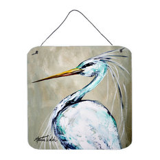 Bird - Heron Smitty's Brother Aluminium Metal Wall or Door Hanging Prints