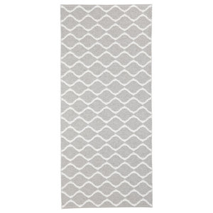 Wave Woven Vinyl Floor Cloth, Dark Grey, 70x300 Cm