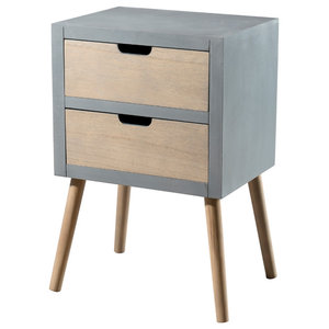 Lorenzo Bedside Table, 2 Drawers