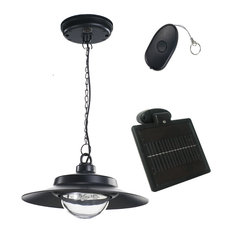50 most popular black outdoor pendant lights for 2018 houzz nature power black indooroutdoor solar powered led hanging shed light with remote aloadofball Images