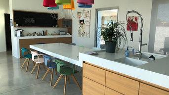 Meuble cuisine en médium vitrifié