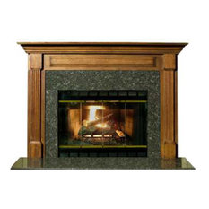 """Stately Cherry Finished 42"""" Birmingham Fireplace Mantel, Brown Cherry"""