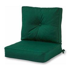 Outdoor 2-Piece Deep Seat Cushion Set in Sunbrella Fabric, Forest Green