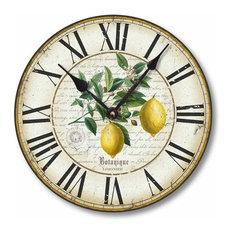 Vintage-Style 12 Inch Lemon Clock