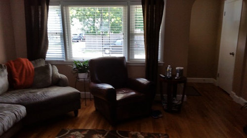 Need To Find A Rug And Curtains To Match Tan Beige Walls And A Gray Co
