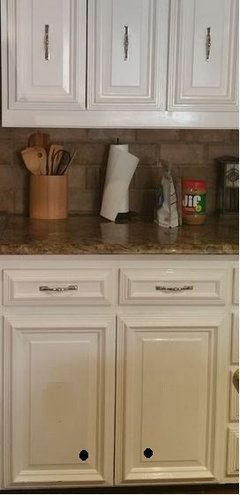 Unusual issue - Hardware placement on existing 1980's cabinets