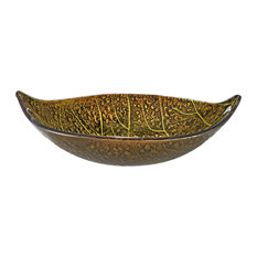 Tropical Style Glass Vessel Sink