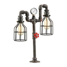 West Ninth Vintage Steampunk Industrial Table Lamp