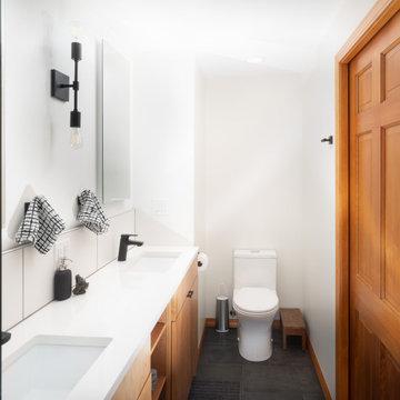 Owner's Bathroom New Toilet Location