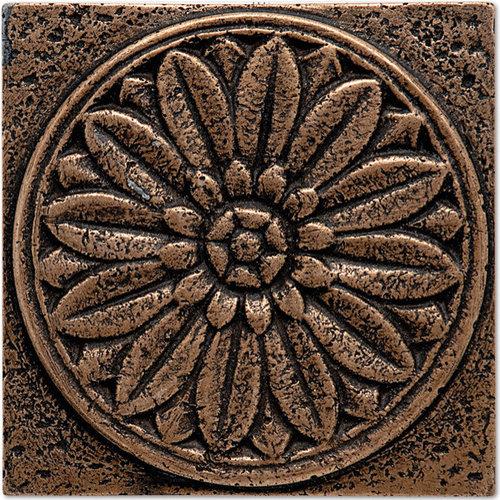 """Copper 4"""" Daisy Tile Square - Tile"""