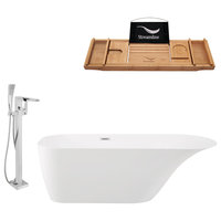 "Streamline Tub Set  67"" Freestanding With H-100-TFMSHCH Faucet"
