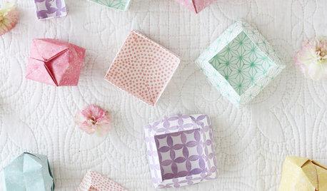 簡単ハンドメイド:節分や桃の節句に使える、千代紙の小箱と水引のアクセサリー
