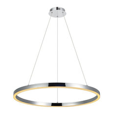 Ring  / LED-Hängeleuchte / Chrom