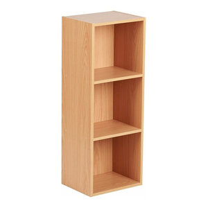 Modern Modular Storage Cube Unit, Beech Finished MDF With Compartmentss