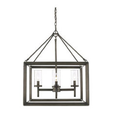 Golden Smyth 4-LT Chandelier 2073-4 GMT - Gunmetal Bronze