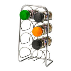 Hahn Pisa Chrome Spice Rack, 8 Jars