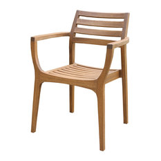 Bay - Kestrel Wooden Stacking Chairs, Set of 4 - Outdoor Dining Chairs