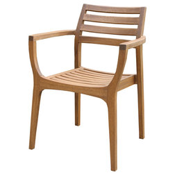 Transitional Outdoor Dining Chairs by Outdoor Interiors