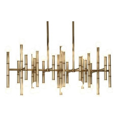 Jonathan Adler Meurice 42-Light Chandelier, Modern Brass