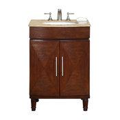 """Silkroad 26"""" Transitional Single Sink Bathroom Vanity"""