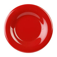 "6 1/2"" Wide Rim Plate, Set of 12, Pure Red"