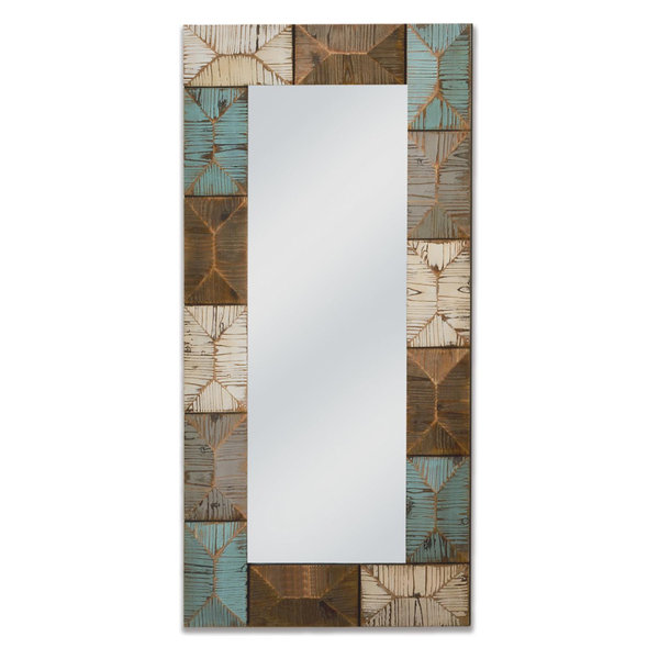 Large Coastal Wooden Mirror
