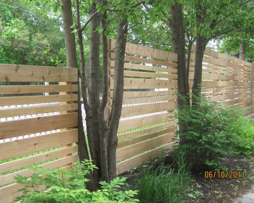 Horizontal Cedar Fence Design Ideas Amp Remodel Pictures Houzz