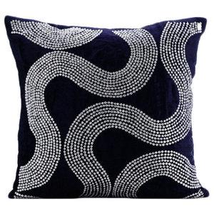 Crystal Gush, Blue Velvet Cushion Covers 40x40