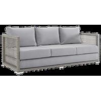 Gray Gray Aura Outdoor Patio Wicker Rattan Sofa