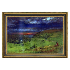 Sundown Brillance Canvas Art By George Inness Traditional Prints And Posters By Trademark Global