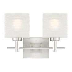 contemporary vanity lighting. Westinghouse - Alexander 2-Lt Wall Fixture, Brushed Nickel, White Bathroom Contemporary Vanity Lighting