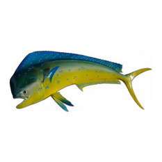 "40"" Mahi Half Mount Fish Replica"