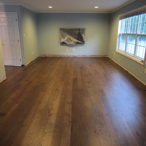 Manorville 5 Quot White Oak Installed Special Walnut Stain
