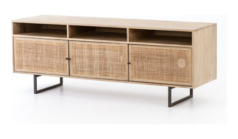 AVEBURY MEDIA CONSOLE/NATURAL MANGO