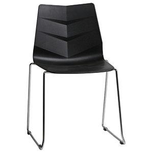 PVC Arrow Design Chair, Black