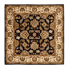 Safavieh Federica Hand Tufted Rug Black Beige 4 X4 Square