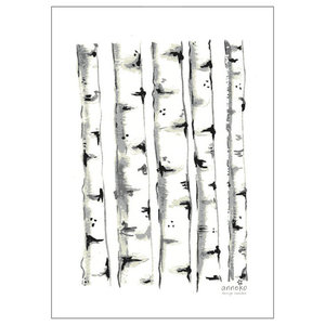 Swedish Kitchen Towels, Birch Trees, Pack of 2