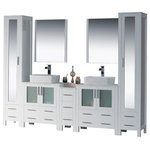 """Blossom - Sydney 102"""", Glossy White, Vessel Sinks, Mirror - Features"""