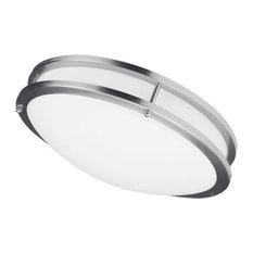 "Cambria LED Ceiling Flush Mount, Satin Chrome, 16"""