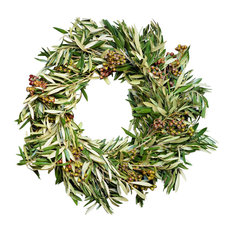"California Olive and Eucalyptus Pod Wreath, 24"", No"