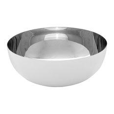 Loft Metal Vessel Sink, White Chrome, 37x16 cm