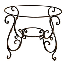 Hand-Forged Iron Side Table Base, Round