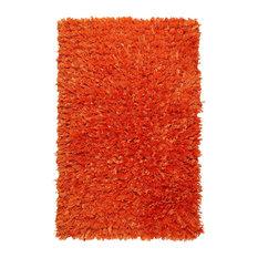 "Shimmer Shag 30""x50"" Rug, Orange"